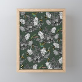 Hummingbirds and Bees (don't let them fade away) Framed Mini Art Print