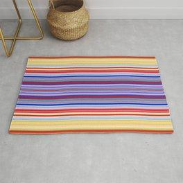 Rainbow Stripes Design Rug
