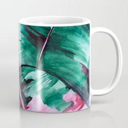 Aquarell Plant Stromanthe Sanguinea Coffee Mug