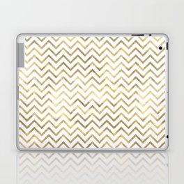 Gold Zig Zag Pattern Laptop & iPad Skin
