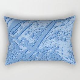 BLUE MARBLE EFFECT Rectangular Pillow