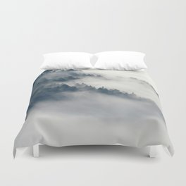 Mountain Fog and Forest Photo Duvet Cover