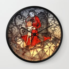 Cold feet boy warms a cold cold heart Wall Clock