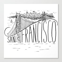 San Francisco Golden Gate Swoop Canvas Print