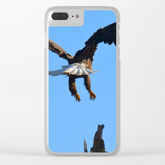 Coming in for a Landing Clear iPhone Case
