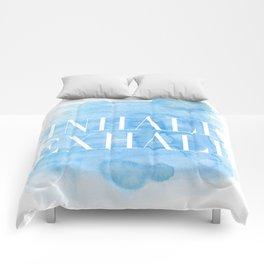 Enhale exhale quote Comforters