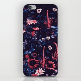 Cobalt And Carmine Bold Night Floral iPhone Skin