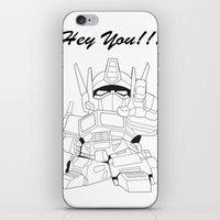 transformer iPhone & iPod Skins featuring Hey You !!! Transformer Transparent Design by Timeless-Id