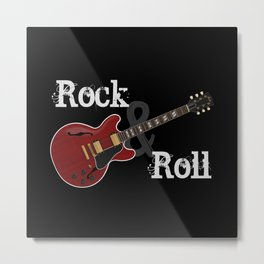 Rock and Roll Guitar Metal Print