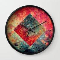 square Wall Clocks featuring Random Square by Esco