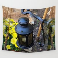 lantern Wall Tapestries featuring Star Lantern by Bethany Murray