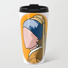 Cartoon Vermeer Travel Mug