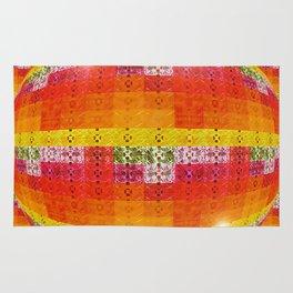 High Definition Retro Disco Ball Orange Pattern Rug