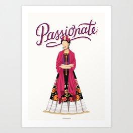Frida Kahlo Passionate Art Print