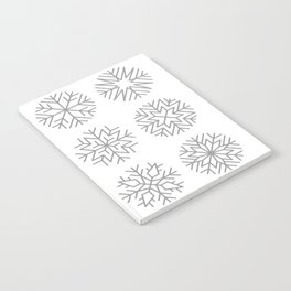 minimalist snow flakes Notebook