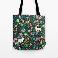 friends Tote Bags featuring Forest Friends by Anna Deegan