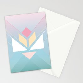 Tangram Lotus One Stationery Cards