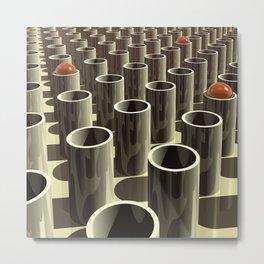 Stockyard of Cylinders Metal Print