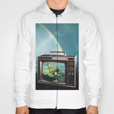 Tune in for more adventure, vintage collage with diving lady Hoody