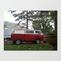 vw bus Canvas Prints featuring VW BUS  by Katie Corley