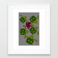 turtles Framed Art Prints featuring Turtles  by MillennialBrake