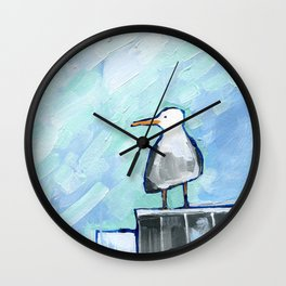 Skipper Seagull Wall Clock