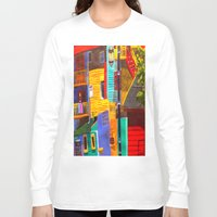 buildings Long Sleeve T-shirts featuring SkyRainbow Buildings by SkyJay
