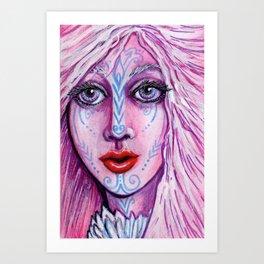 Pink Priestess Art Print