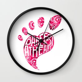 Barefoot At Heart With Foot And Toes For Yoga Class Wall Clock