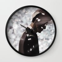 exo Wall Clocks featuring Lonely by TheRmickey