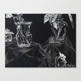 Glass Vases Canvas Print