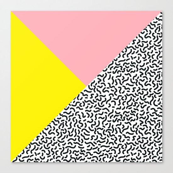 Memphis pattern 28 Canvas Print