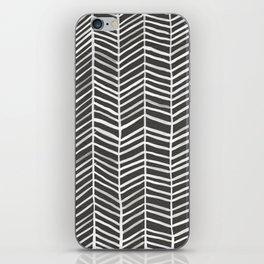 Herringbone – Black & White iPhone Skin