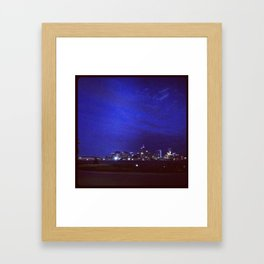 Denver Skyline Summer 12 Framed Art Print