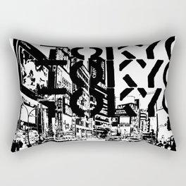 Tokyo Japan Black White Rectangular Pillow