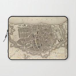 Vintage Map of Antwerp Belgium (1845) Laptop Sleeve