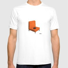 Favorite Chair MEDIUM White Mens Fitted Tee