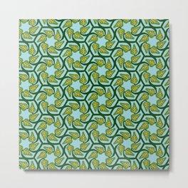 Hexagonal Vines Metal Print