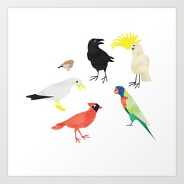 Bird Meeting Art Print