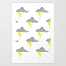 Cloudy Without You Art Print