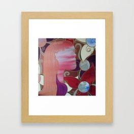 whirl my worries awat Framed Art Print