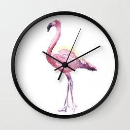 Full Flamingo Wall Clock