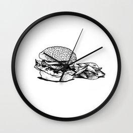 BURGER & FRIES Wall Clock