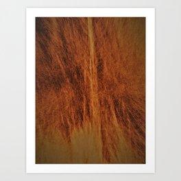 Caramel colour abstract design Art Print