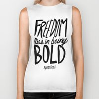 freedom Biker Tanks featuring Freedom  by Leah Flores