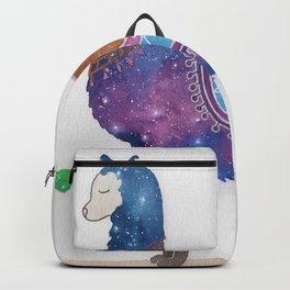 """""""Lady Llama"""" watercolor galaxy animal & cacti illustration Backpack"""