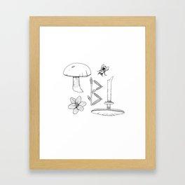 biarkan Framed Art Print