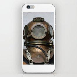 Antique vintage metal underwater diving helmet iPhone Skin