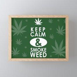 """""""Keep Calm and Smoke Weed"""" Framed Mini Art Print"""