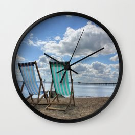 Deck Chairs HDR Wall Clock